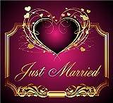 3 St. Aufkleber Original RAHMENLOS® Design: Selbstklebendes Flaschen-Etikett: Just Married