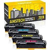 Amstech 4Packs 201X 201A CF400X CF400A M277dw Toner Kompatibel für HP 201X 201A CF400X-CF403X HP Laserjet Pro MFP M277dw HP Laserjet M252dw M277n M277 M252n M252 M274n M277c6 M274 Druckerpatrone
