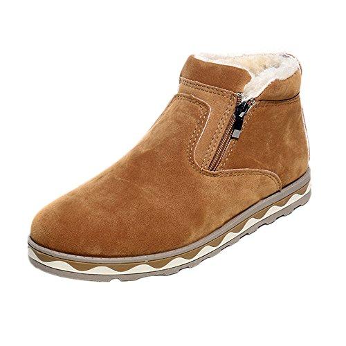 tohole Herren Anti-Ski-Winterstiefel aus Wildleder Stiefel Turnschuhe warme Schuhe Baumwollstiefel Winter Boots Winterstiefel Wanderstiefel Wasserdicht Rutschfest Outdoor Stiefel -