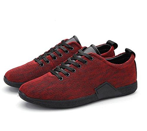 WZG chaussures chaussures de sport, Chaussures de course pour chaussures de sport hommes rayés automne et d'hiver pour hommes Red
