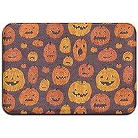 diyabcd Cartoon Cute Halloween calabaza Felpudo antideslizante para casa jardín puerta alfombra Felpudo piso almohadillas