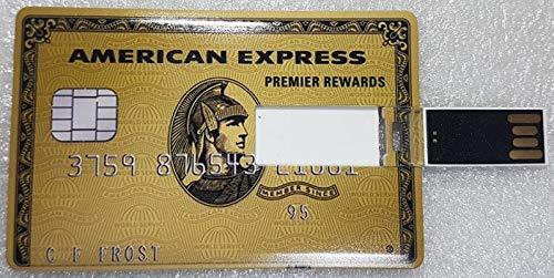 J&j pen drive credit card chiavetta usb carta di credito 8gb 16gb 32gb 64gb penna memory usb2.0 (amex oro, 32gb)