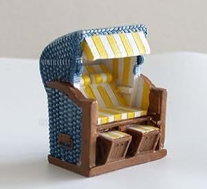 maritime deko strandkorb blau gelb k che haushalt. Black Bedroom Furniture Sets. Home Design Ideas
