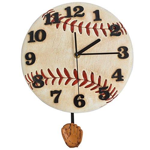 Giftgarden® Orologio da Parete Moderno Baseball con