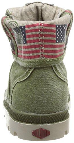 Palladium Baggy Flag, Boots mixte enfant Vert (Olive)