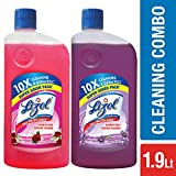 Lizol Disinfectant Floor Cleaner - 975 ml (Floral) with Lizol Disinfectant Floor Cleaner