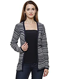 MansiCollections Monochrome Cardigan for Women