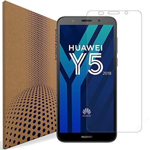 VLP Huawei Y5 2018 Cristal Templado Protector de Pantalla, 2.5D Edge Fingerprint Resistant Protector de Pantalla Cristal Vidrio Templado para Huawei Y5 2018