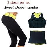 #6: VelKro Women's Workout Neoprene Sports Pants Trousers 3 In 1 Combo Set: Bra- Pants-Belt Shaper Hot Pants (Size: XXL)