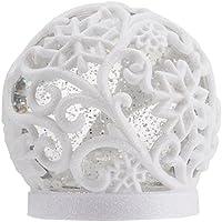 Star LED-Schneekugel Frost, Weiss/Glitzer, Plastik, 1.2 x 1.2 x 1.3 cm