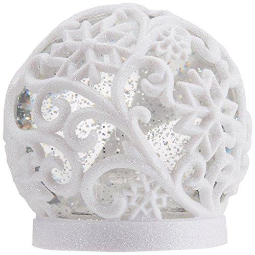 """Star 991-01, LED-Schneekugel """"Frost"""", Weiss/ Glitzer, Plastik, Weiß, 1.2 x 1.2 x 1.3 cm"""