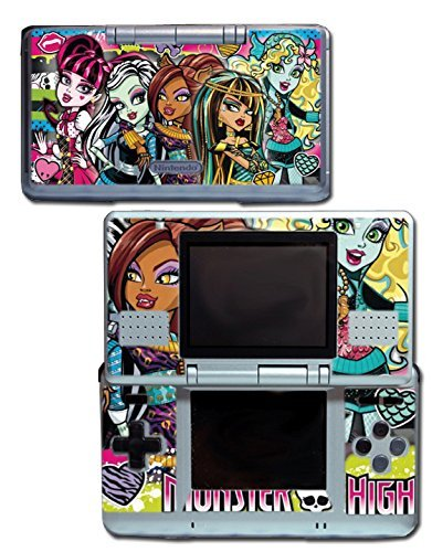 Monster High School New Ghoul Spirit Clawdeen Wolf Rule Haunted Doll Frankie Stein Draculaura Cleo de Nile Video Game Vinyl Decal Skin Sticker Cover for Original Nintendo DS System by Vinyl Skin Designs