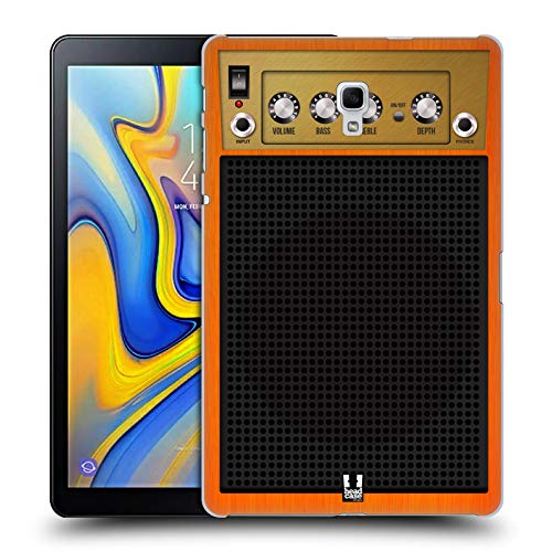 Head Case Designs Orange Chor Gitarrenverstärker Ruckseite Hülle für Samsung Galaxy Tab A 10.5 (2018)