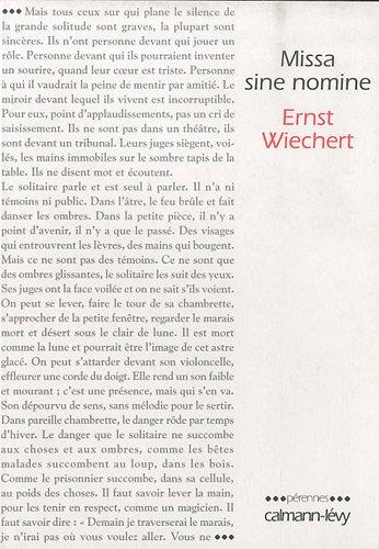 Missa sine nomine par Ernst Wiechert