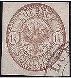 Goldhahn Lübeck Nr. 13 a gestempelt Geprüft Briefmarken für Sammler