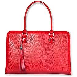 My Best Friend is a Bag ist eine Laptop-Tasche Rot zum Überhängen für Frauen | Eine sehr leichte, handgefertigte Aktentasche | Mit 17 Zoll Fächern für Laptops, Tablets, iPad