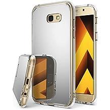 Funda Galaxy A5 2017, Ringke [Fusion Mirror] Protector de Espejo Lujoso y Radiante Carcasa Protectora Fina y Elegante para Samsung Galaxy A5 2017 - Plateado Silver