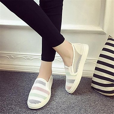 RTRY Donna Sneakers Comfort Pu Molla Canvas Informale Comfort Piatto Bianco US8.5 / EU39 / UK6.5 / CN40