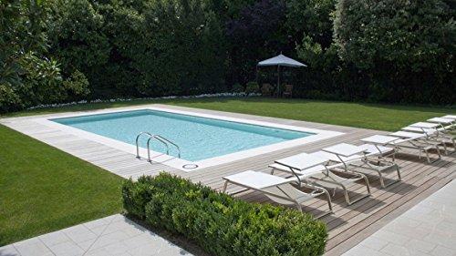 Cpa piscine kit piscina interrata creta 10x4 mt rettangolare fondo piano 1,50 h con pannelli
