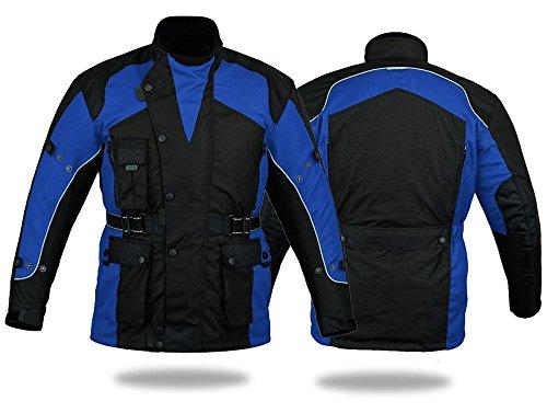 Australian-Bikers-Gear-CJ1019-da-moto-impermeabile-con-motivo-BLUE-Giacca-termica