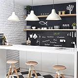Selbstklebende Tafelfolie - Kreidetafel Küche - DIY Wandtafelfolie schwarz, Klebefolie, Kreidetafel, Schiefertafel, Wandtafel, Dekofolie