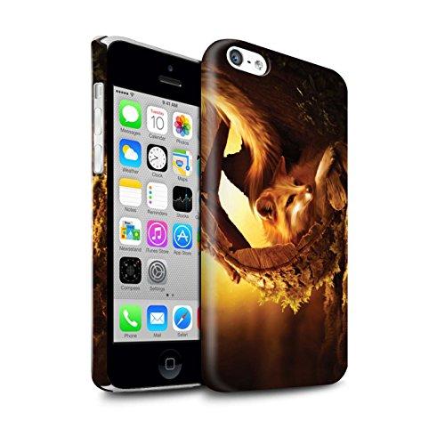 Officiel Elena Dudina Coque / Clipser Brillant Etui pour Apple iPhone 5C / Le Calin/Chiot/Chien Design / Les Animaux Collection Jacinthe