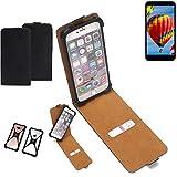 K-S-Trade Flipstyle Case für Vestel V3 5030 Schutzhülle Handy Schutz Hülle Tasche Handytasche Handyhülle + integrierter Bumper Kameraschutz, schwarz (1x)