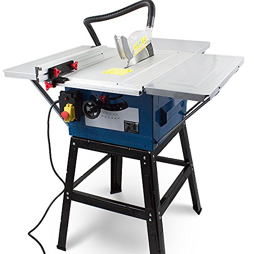 BITUXX® Tischkreissäge Tisch Kreissäge Heimwerker 1800 Watt Tischsäge inkl. Gestell,Winkelanschlag für Gehrungschnitte und höhenverstellbares Sägeblatt