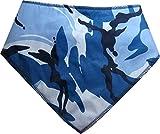Spoilt Rotten Pets (S4) blau Halstuch Marken Hund Camouflage. Extra große Größe Allgemein passend für Rottweiler und St Bernard Große Hunde. Halsumfang 58,4cm to 71,1cm Gorgeous Reihe von Mustern und Farben.