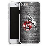 DeinDesign Apple iPhone 7 Hülle Case Handyhülle 1. FC Köln Metall Look Fussball