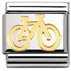 Nomination Composable Classic TECH Edelstahl und 18K-Gold (Fahrrad) 030108