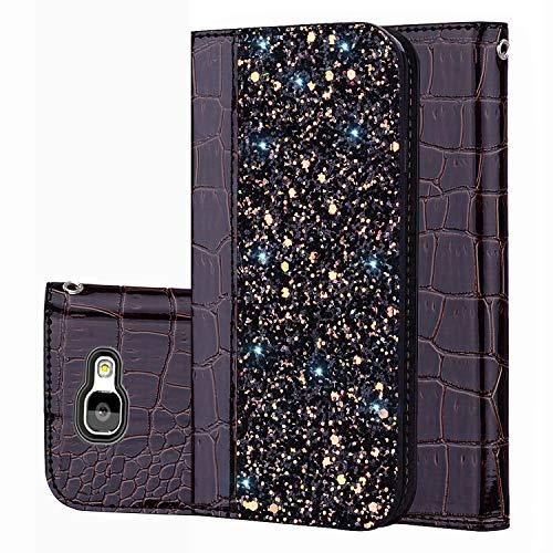 für Smartphone Samsung Galaxy A5 2017 Hülle, Leder Tasche für Samsung Galaxy A5 2017 Flip Cover Handyhülle Bookstyle mit Magnet Kartenfächer Standfunktion (3)