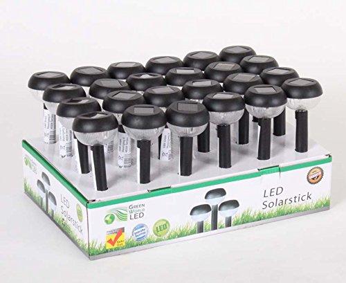 Garten Solarleuchten 24er Set Gartenleuchte LED Solarlampe Erdspieß Garten-Beleuchtung Solarstick