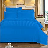 AVI Duvet Cover - King Size Cotton - Duvet/Quilt/Comforter Cover- 91 x 101 inches (Navy Blue)