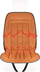 XISEDO Beheizbare Kissen, 12V Beheiztes Sitzkissen mit Einstellbaren 3 Heizstufen Universal-Heizung Halten Warme Sitzbezüge für Autositz Oder Bürostuhl im Winter