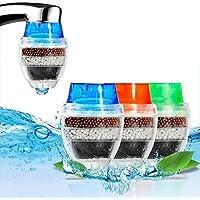 MITOBOM - Filtro de agua para grifo (3 unidades, cartucho de carbono, filtro purificador de agua)