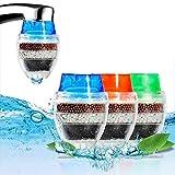 Muitobom 3pcs Mini filtre à eau pour robinet Maison cartouche de noix de coco Charbon robinet l'eau du robinet propre purificateur filtre