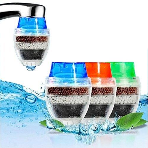 BESTHINKY 3 stücke Hause Küche Wasserhahn Filter Luftreiniger Aktivkohle Multilayer Filter Wasserhahn Leitungswasser Reinigen Reiniger Filterpatrone (3pcs) -
