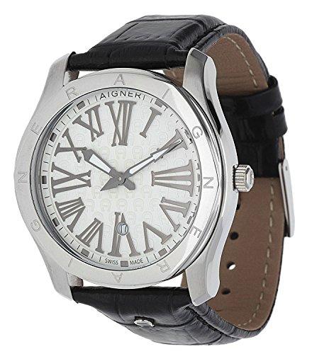 Aigner Herren Armbanduhr Lazio schwarz A42111A