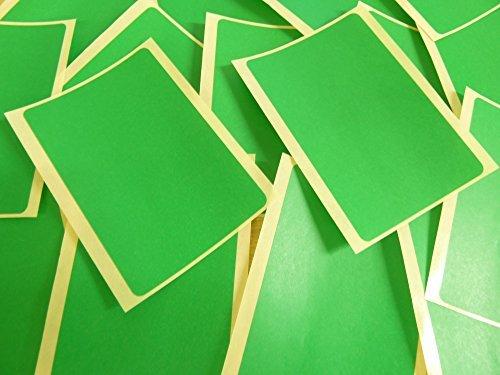 groß 99x65mm Rechteckig Mittelgrün Farben Code Aufkleber, 20 selbstklebende Rechtecke Klebend Farbige Etiketten