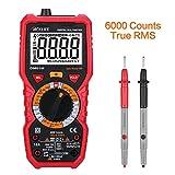 Tacklife DM01M Advanced Version Digital Multimeter Multi Tester mit 6000 Counts, True RMS, 1000V Non Contact Voltage, Temperatur, Live Wire, Beep Kontinuität Test Ein Ideales Geschenk für Vatertag