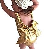 Tianya - Body - Moda - para bebé niña Dorado dorado (Busto:49 cm, Longitud:41 cm)(12 meses)