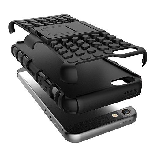 BCIT iPhone 5 5S SE Cover - Alta qualità Doppio Strato ibrido Cellulari Case Custodia protettivo Per iPhone 5 5S SE - Blu Verde
