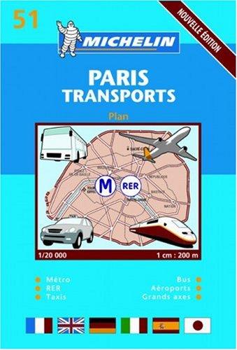 Plan de ville : Paris transports, numéro 51