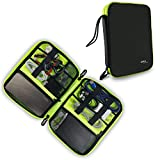 #4: Gizga Essentials Gadget Organizer Case, Portable Zippered Pouch for All Small Gadgets, HDD, Power Bank, USB Cables, Power Adapters, Earbuds, Pen Drives, Memory Cards (Black)