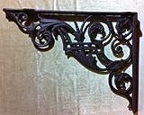 Clever-Deko Winkel Wandhalterung Regalhalterung Eisen Antik rustikal für Regalbretter Regalwinkel Wand 35cm x 27cm Metall antik Gusseisen Guss RETRO vintage