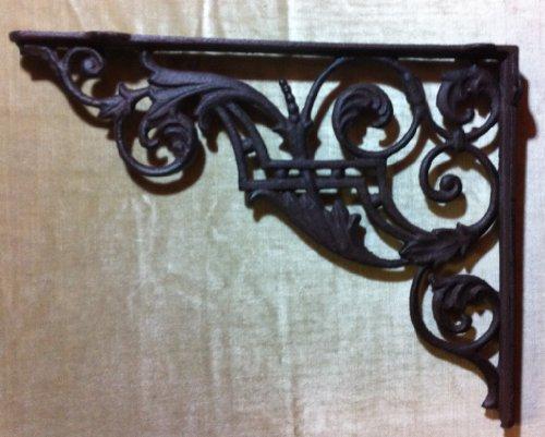 Clever-deko angolo nostalgische wandhalterung regalhalterung ferro antico rustico per scaffali angolo mensola da parete 35cm x 27cm in metallo antico ghisa ferro retro vintage