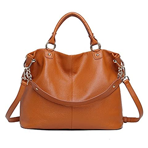 Sonyabecca Womens Ladies' Vintage Genuine Soft Classic Leather Tote Hobos and Satchel Crossbody Shoulder