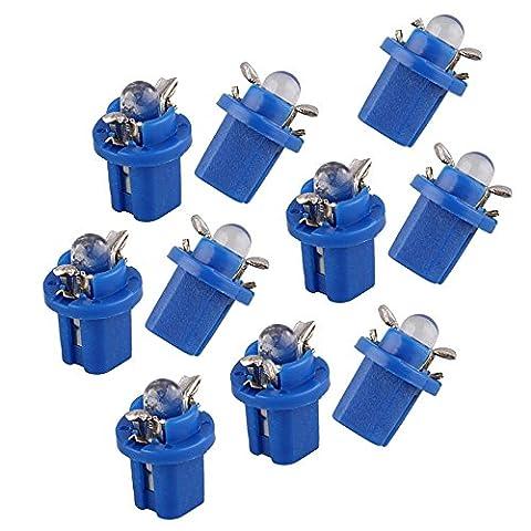 Sonline 10 T5 Ampoule Lumiere LED Jauge Bleu pour Compteur Tableau De Bord Voiture DC12V