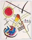 Vassily Kandinsky Poster Reproduction et Cadre (Plastique) - Aquarelle du Livre D'Hôtes Hess, 1925 (50 x 40cm)